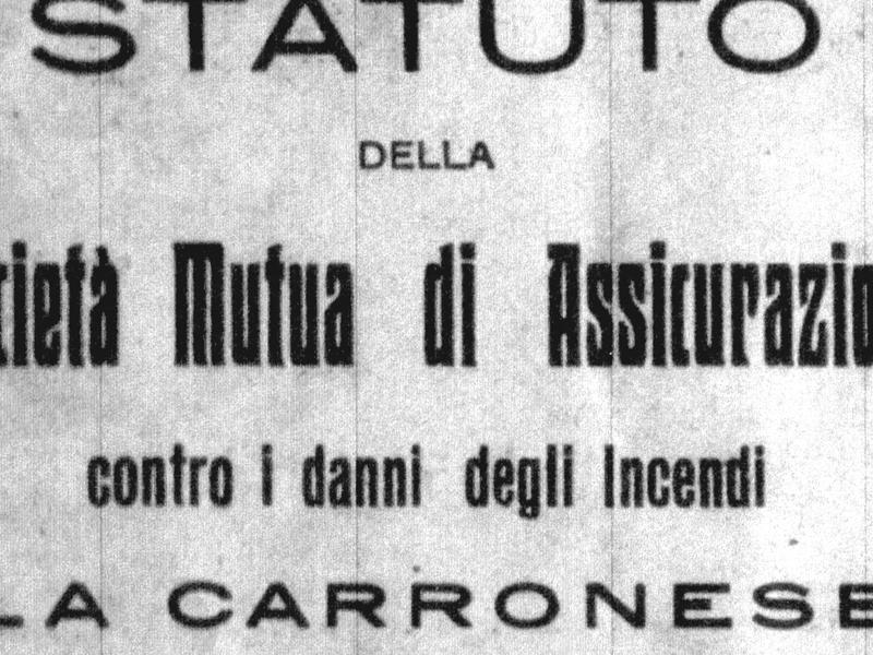 """La Cassa Rurale Prestiti e la Società Mutua di Assicurazione """"La Carronese"""""""
